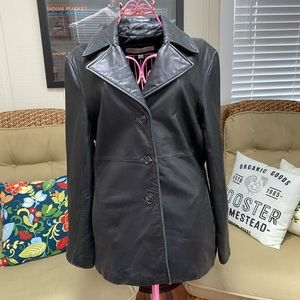 Marc New York Button Up Leather Coat Size XL